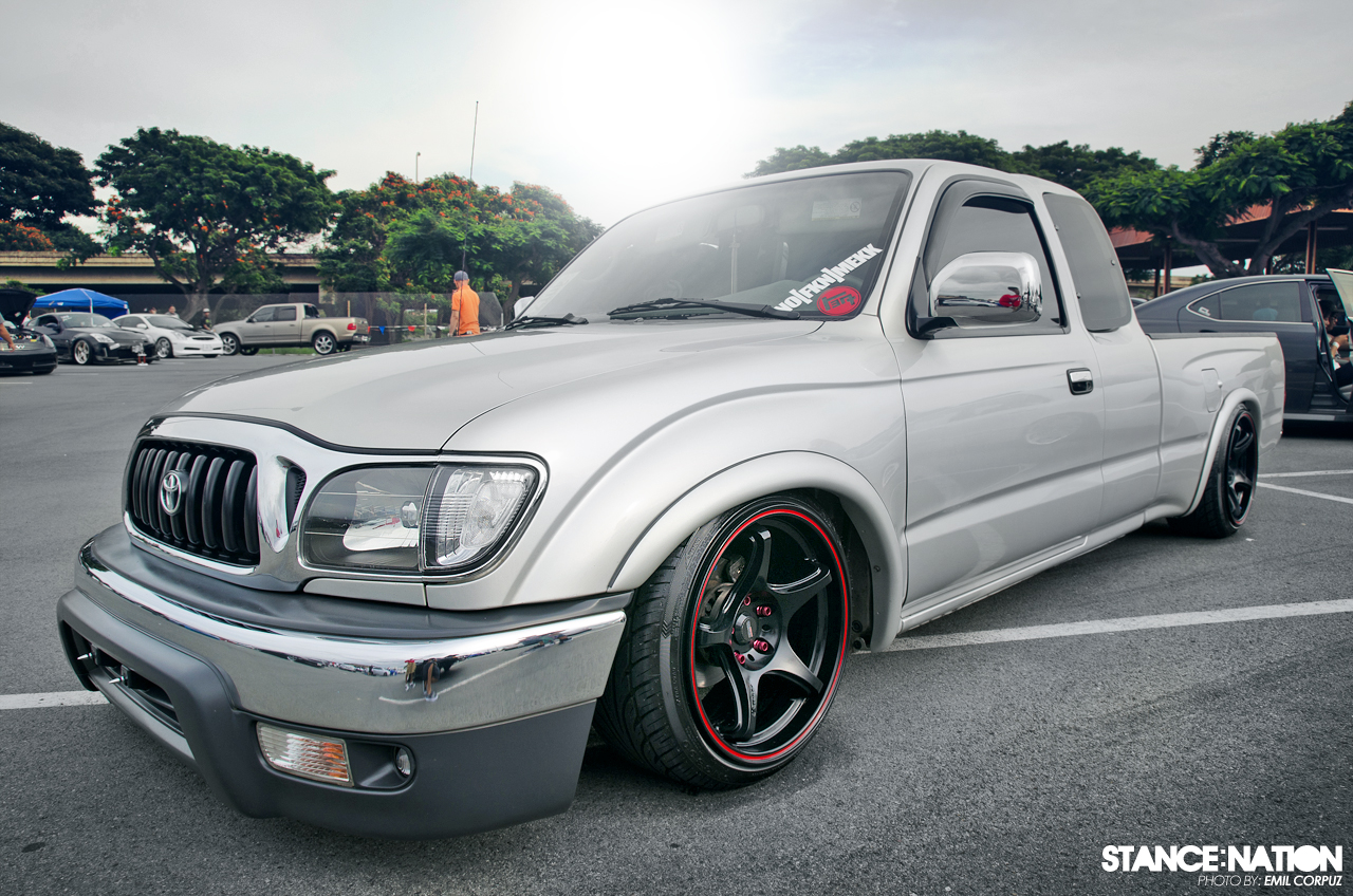 Stanced Pickup Truck True Driving